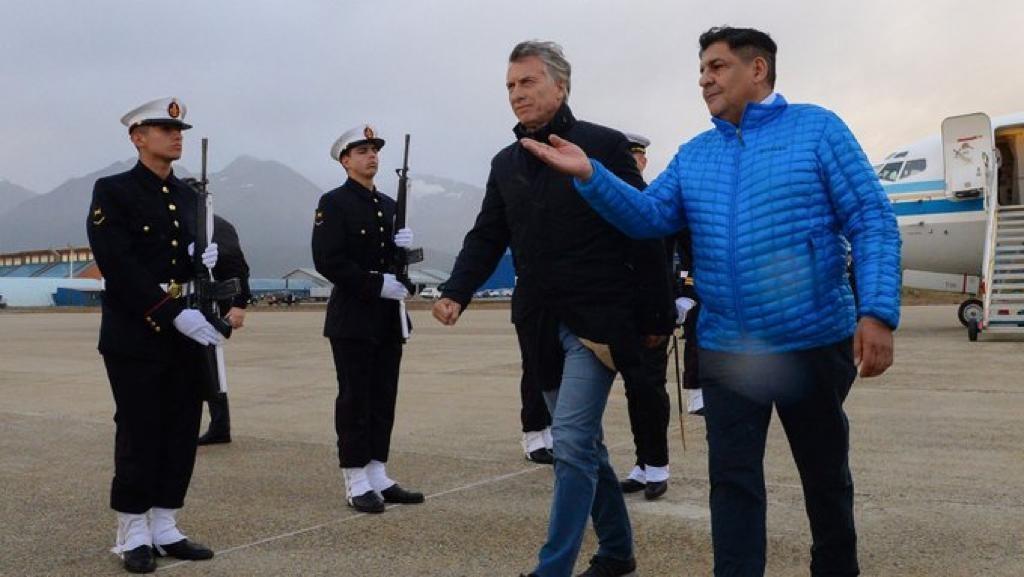Llega Macri a Santa Cruz