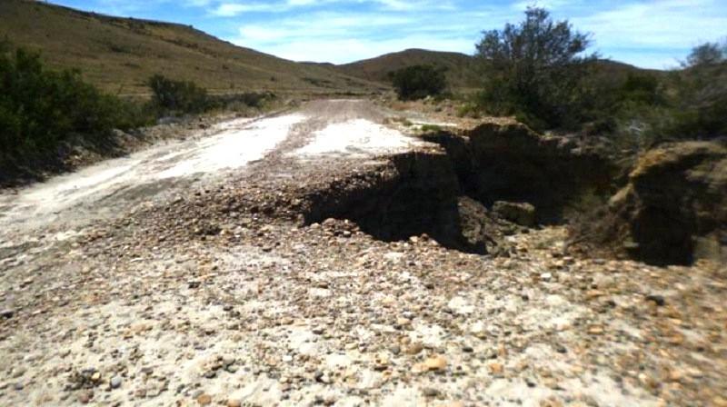 Vialidad Provincial dio explicaciones sobre la ruta cortada en Monte León