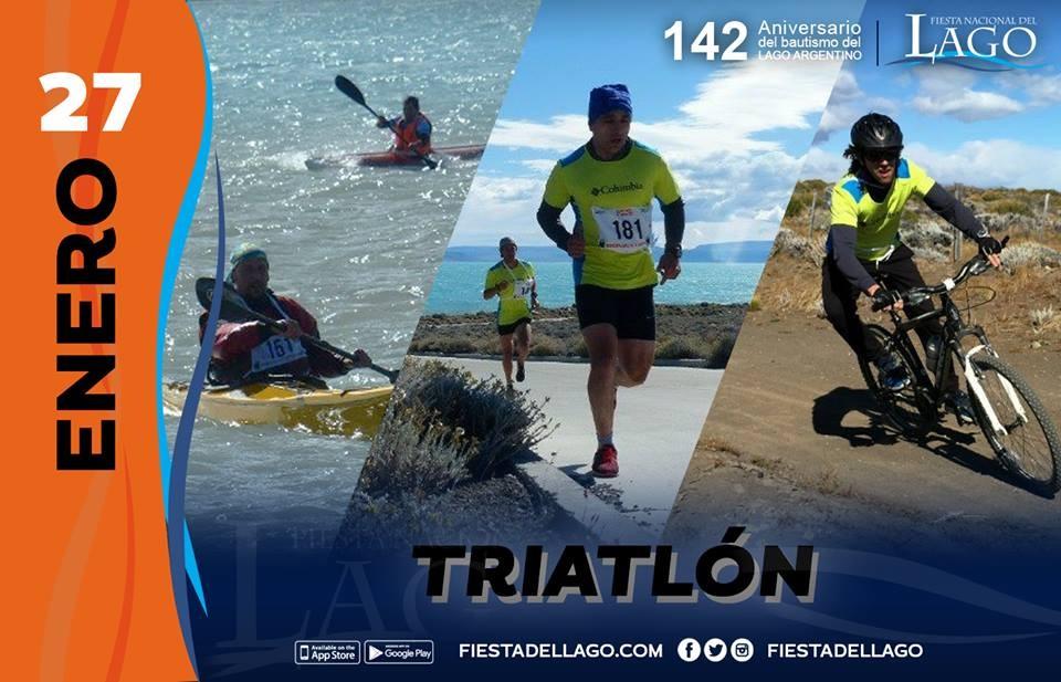 Este domingo a las 9 se corre el Triatlón del Lago Argentino
