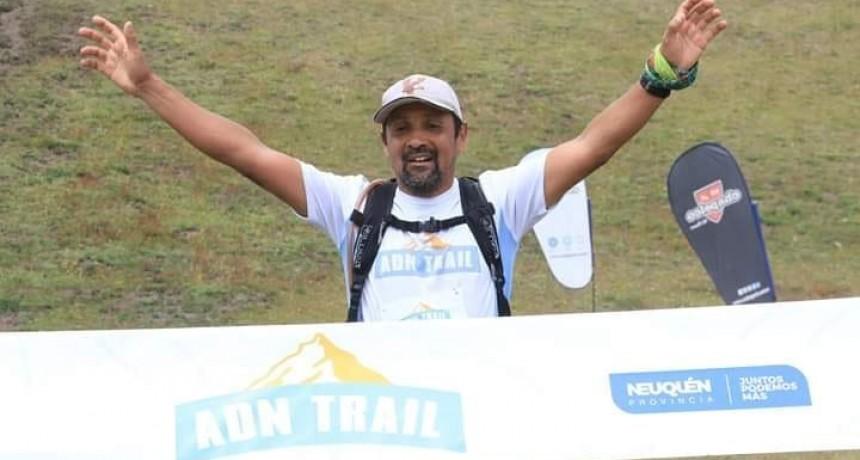 Atleta de El Calafate en el ADN Trail en San Martín de Los Andes
