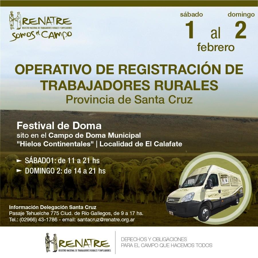 Operativo de Registración de Trabajadores Rurales en El Calafate