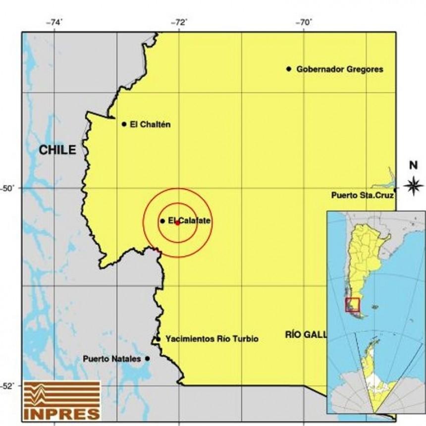 INPRES sitúa el temblor a 17 Km de El Calafate