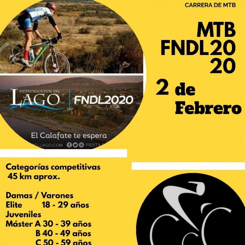 El 2 de febrero se corre el MTB del Lago Argentino