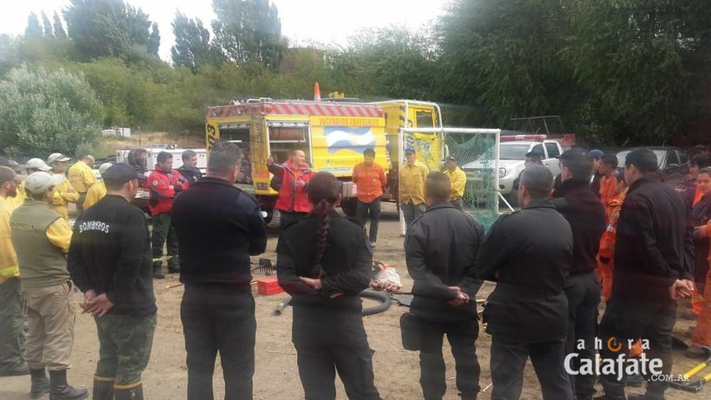 Se reunieron combatientes de incendios de El Calafate