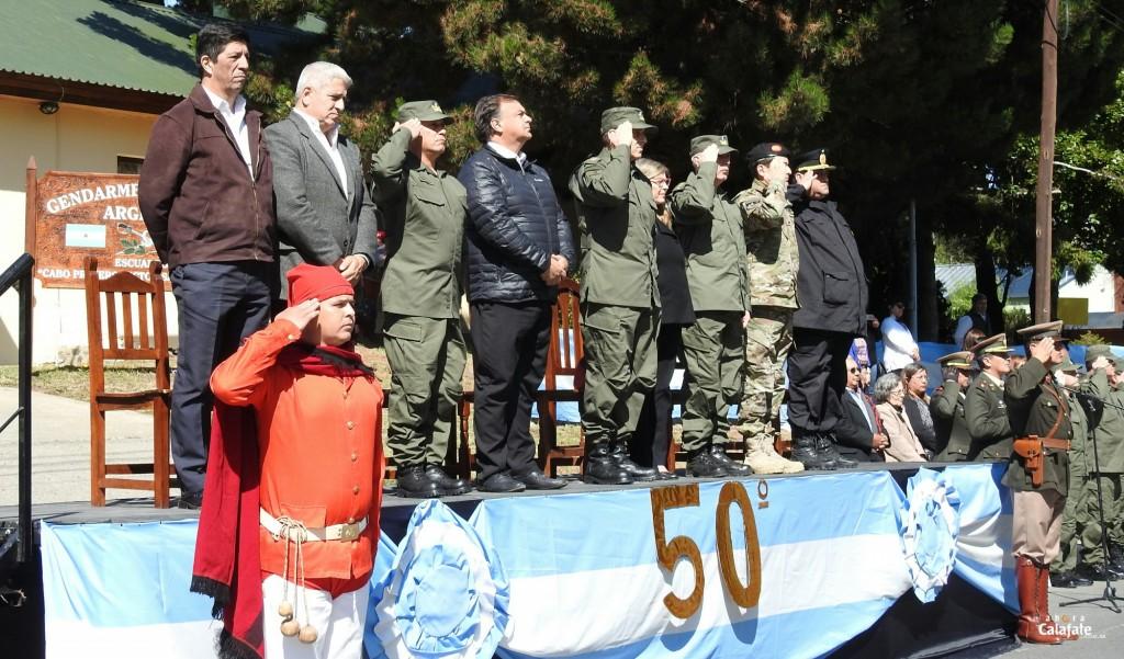 Con acto, desfile y asado, Gendarmería celebró los 50 años de Escuadrón 42