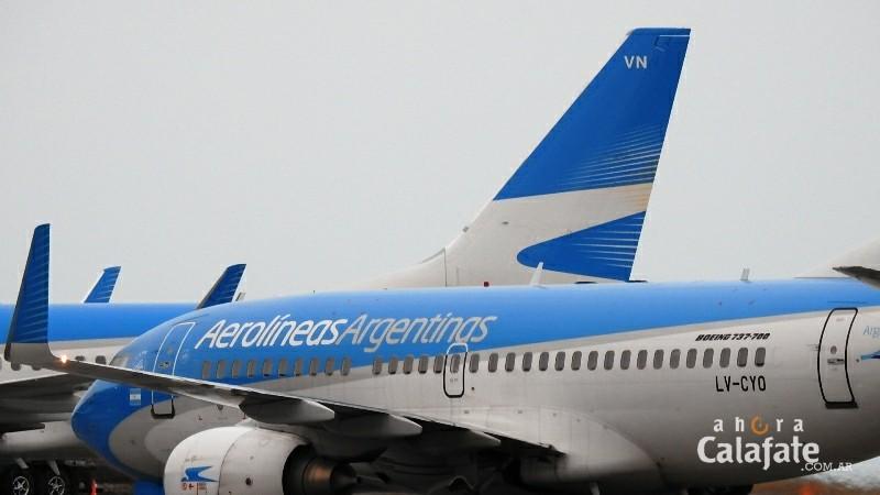 Aerolíneas afirma que en Carnaval viajó a El Calafate un 14 % más de pasajeros