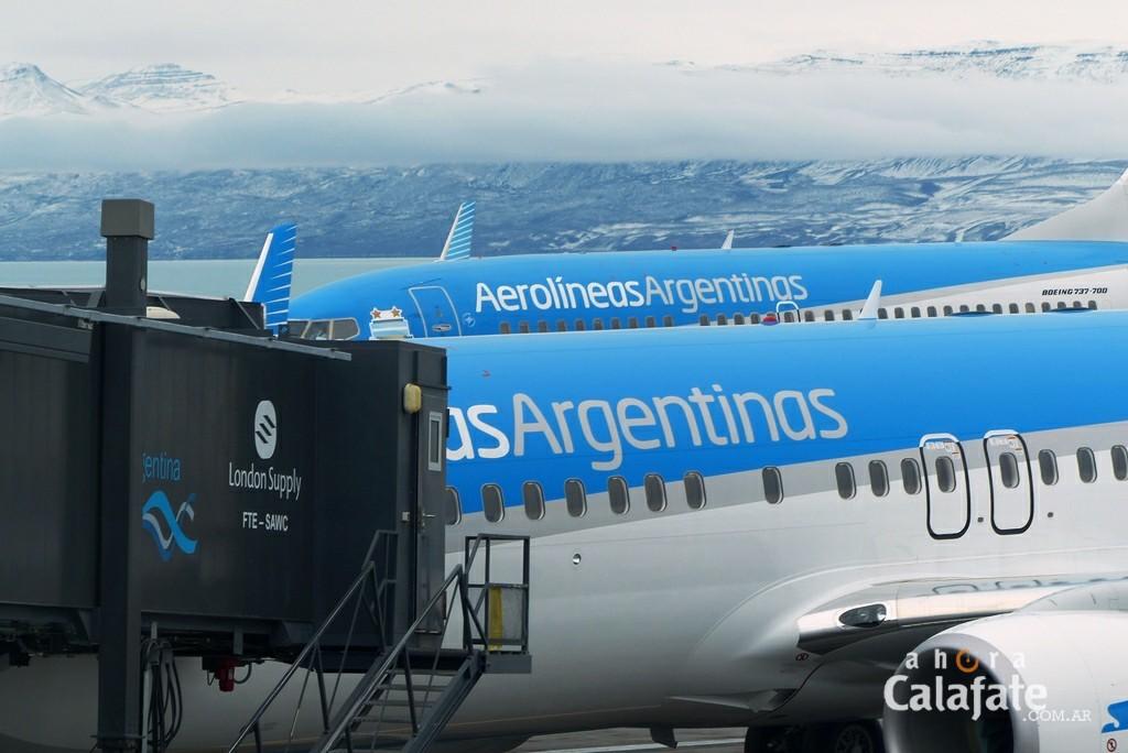INFORME. Este año Aerolíneas prevé incrementar el 12 % la oferta de asientos a El Calafate