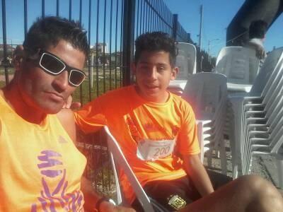 Los Monzón con podio en una carrera solidaria en Río Gallegos