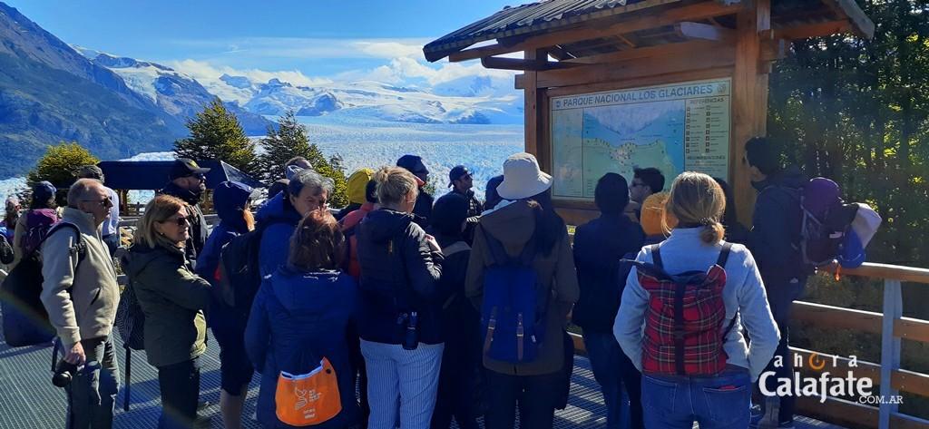 Récord. Nunca tantos turistas visitaron el Glaciar Perito Moreno en febrero