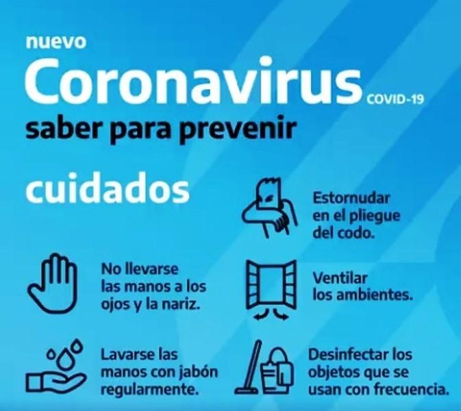 Coronavirus. Brindarán capacitación sobre prevención de enfermedades respiratorias