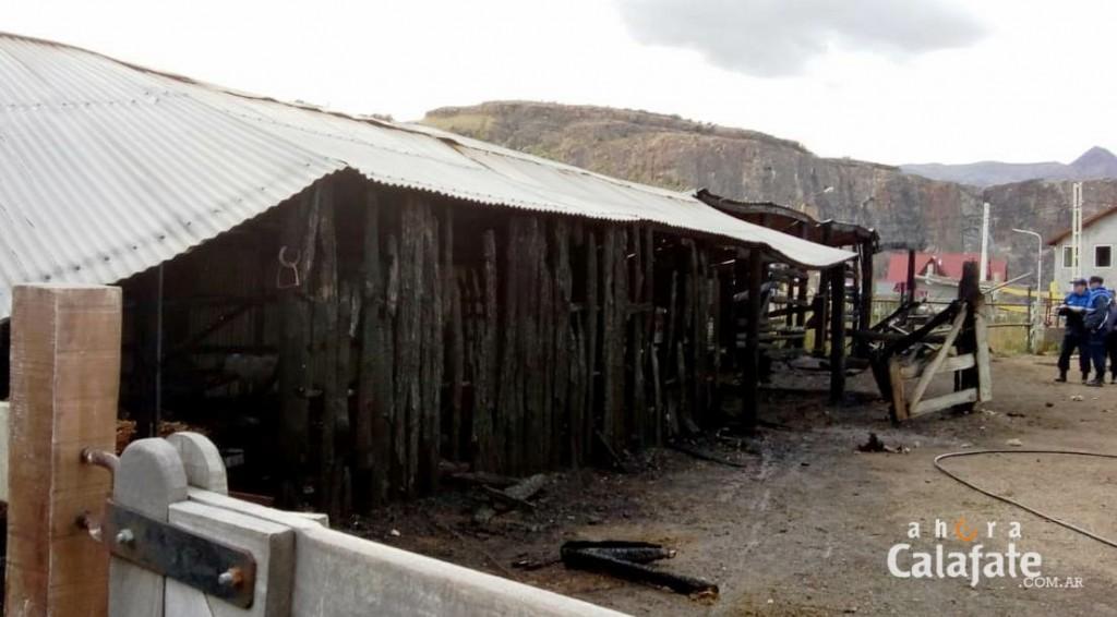 El incendio en El Chaltén tuvo un origen intencional
