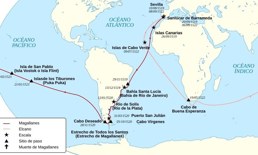 History Channel sigue el viaje de Magallanes por la Patagonia.