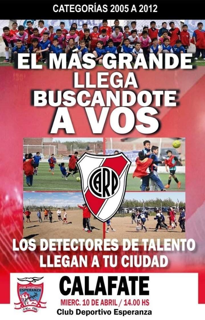 El Club River Plate detectará talentos en El Calafate