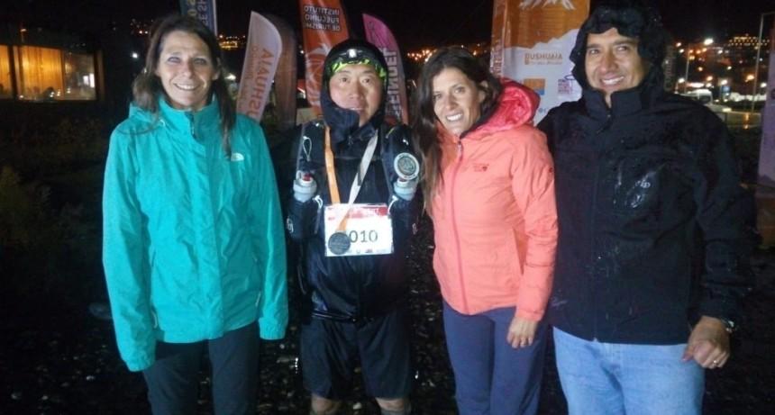 Pascale Taillieu 2da en la UTMB de Ushuaia