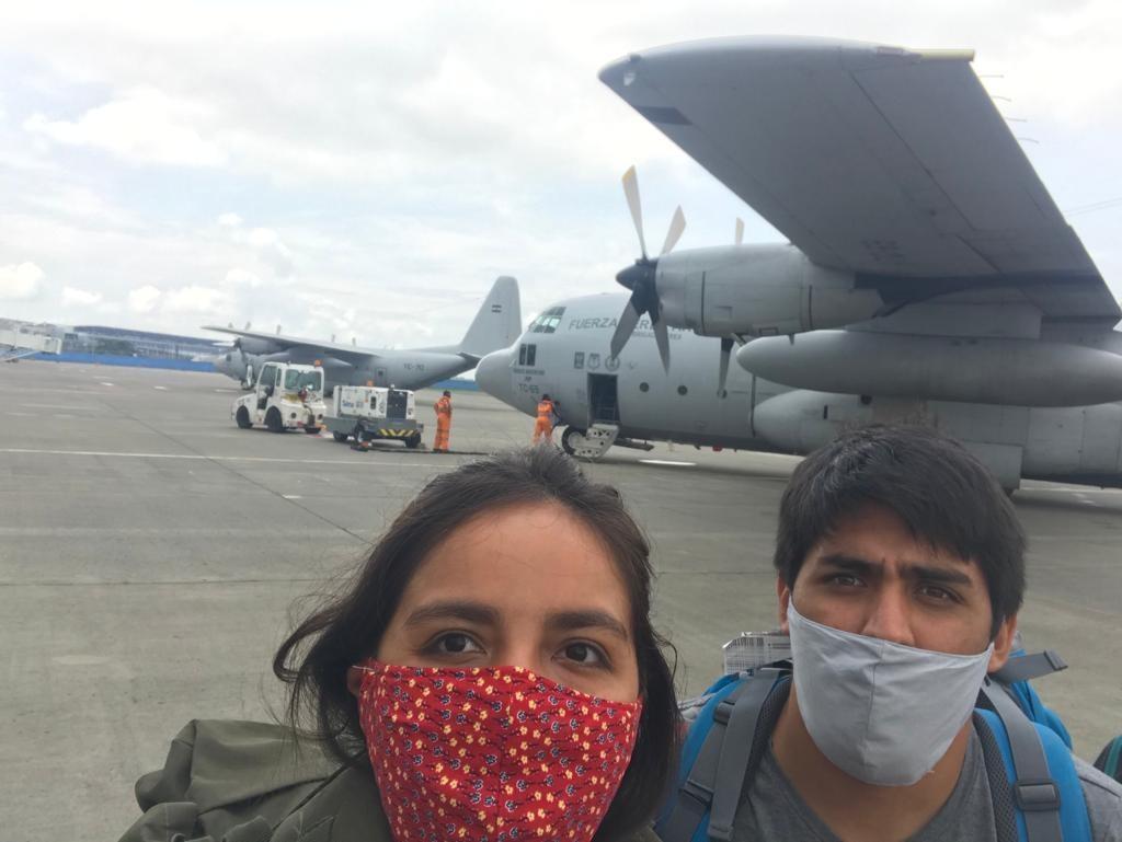 Calafateños repatriados desde Ecuador
