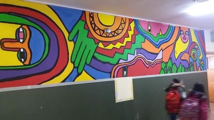Una galería de Arte de Chile reconoció a una escuela de El Calafate