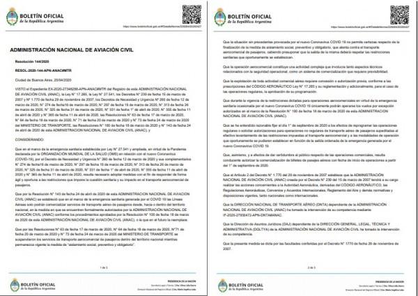 Argentina permite venta de aéreos a partir de septiembre, pero hay polémica