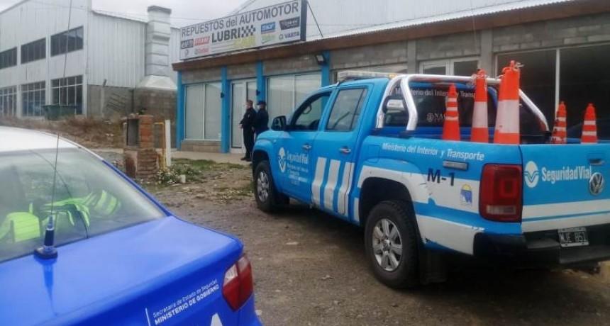 Municipio clausuró un comercio de venta de repuestos