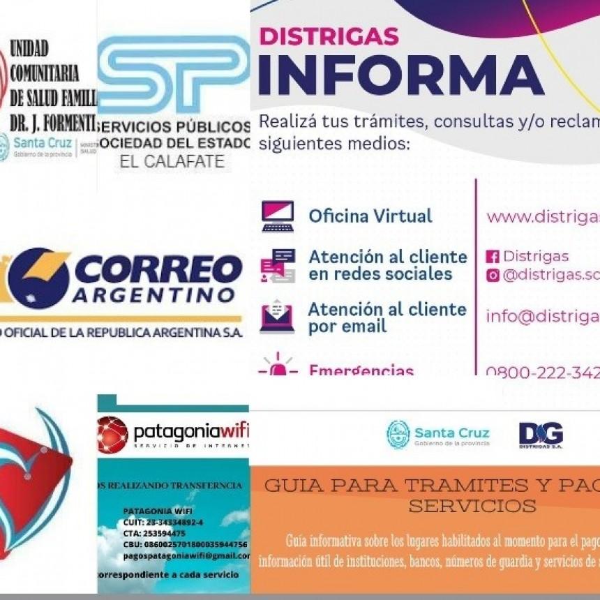 Guía de trámites, servicios de salud e información útil de instituciones de El Calafate