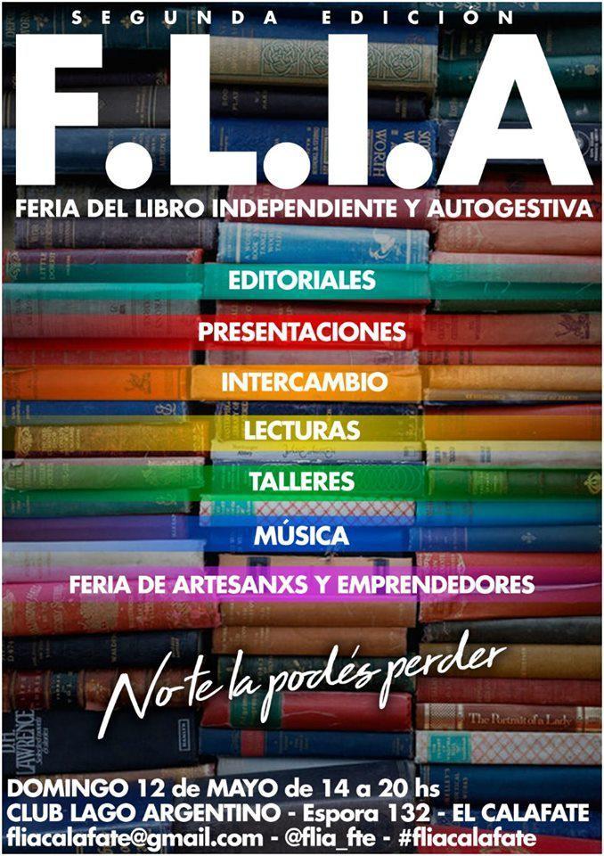 Este domingo se realizará la segunda edición de FLIA El Calafate