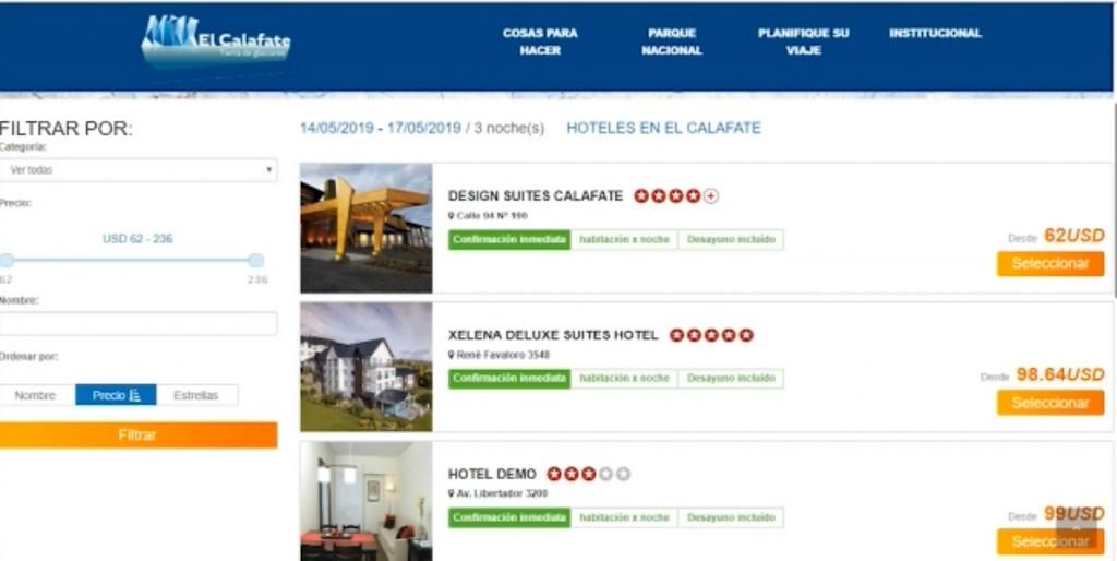 El Calafate habilita las reservas y ventas en su página web