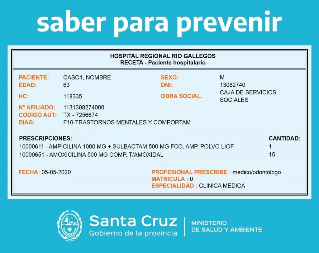 Salud. Se implementa la Receta Electrónica en Santa Cruz