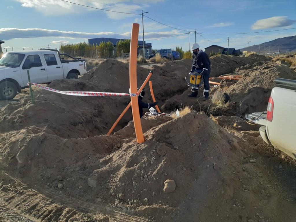 Continúan los trabajos de la ampliación de red de gas en El Calafate