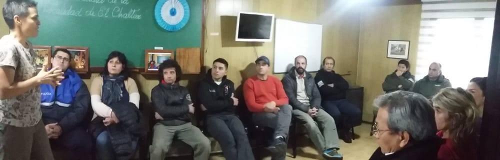 El Chaltén. Presentan a la Coordinadora de Protección Civil Local