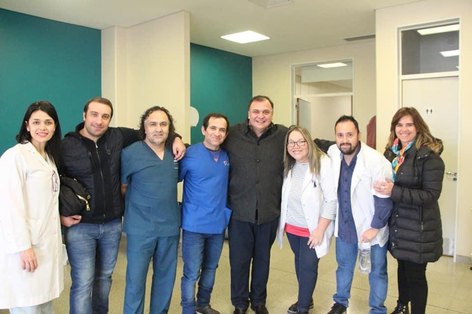 Belloni y Naves visitaron el hospital intervenido por Nación