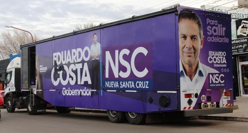 """El """"Camión de las Propuestas"""" de Costa vuelve a recorrer Santa Cruz"""