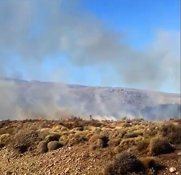 Incendio en campos de una estancia