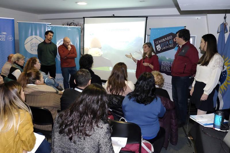 El Chaltén expuso en el Seminario de la Ruta 40 Santa Cruz