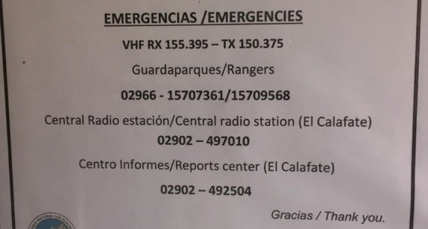 Esperan respuesta de Provincia para la cobertura de emergencia en el glaciar.