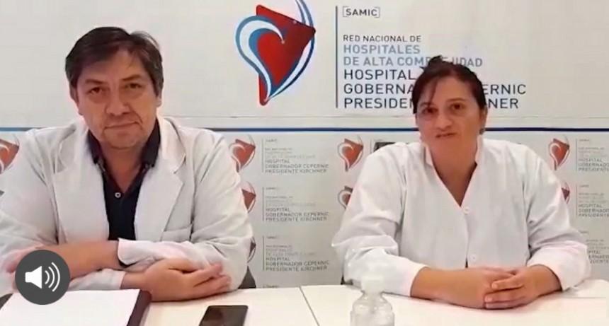 DIRECTORES DEL HOSPITAL HABLAN DE LAS ACCIONES CONTRA EL BROTE DE COVID