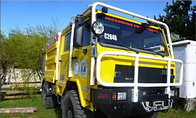 El Chaltén. Consejo Agrario recibió Camión de Incendios Forestales