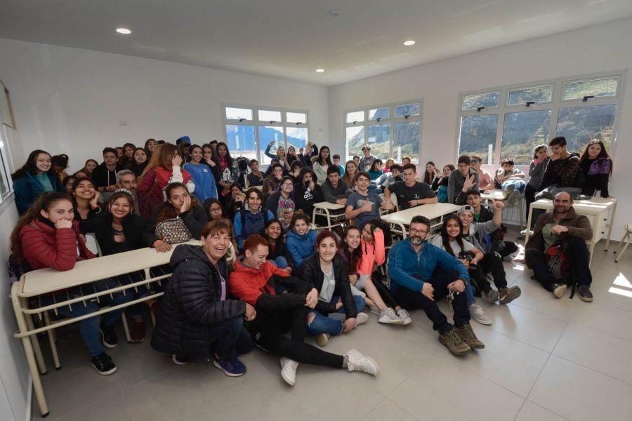 EL CHALTEN. Inauguraron el nuevo edificio del Colegio Secundario