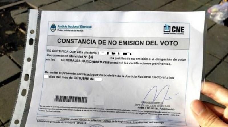 En El Calafate más de 1.200 personas justificaron el NO voto