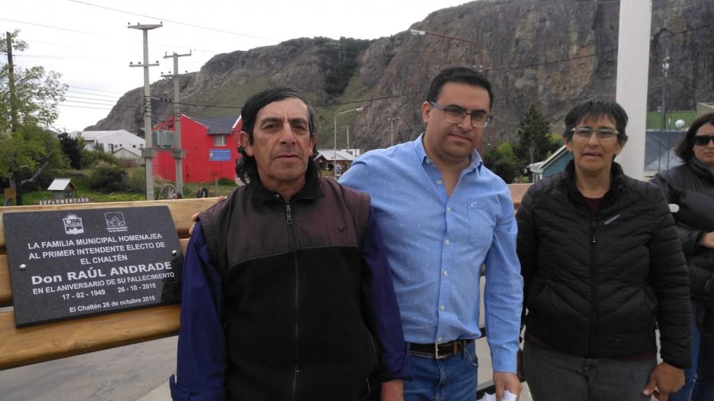 Homenaje al primer intendente de El Chaltén