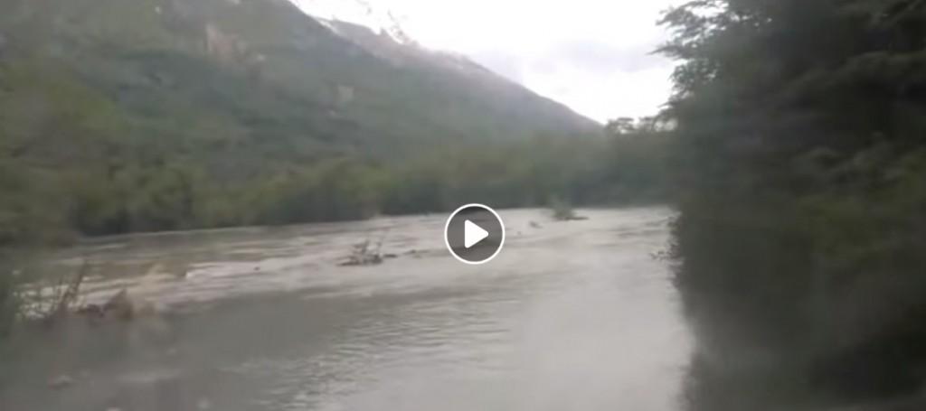 VIDEO. Empeora el estado de la ruta al Lago del desierto