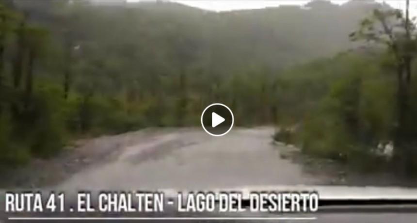 VIDEO. Así está la ruta a Lago del Desierto