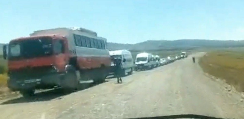 VIDEO. Largas filas y horas de espera en la frontera con Chile